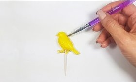 How to Paint Dry Fondant With Gel Food Color