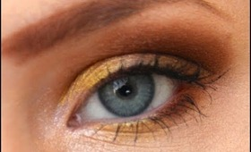Copper and Gold eyeshadow tutorial feat. Maybelline Color Tattoo pigments