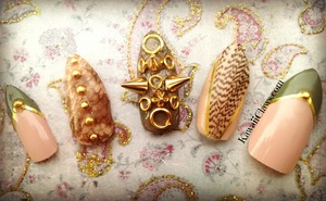 with real snakeskin & feather :) gold spikes for sasssssssss