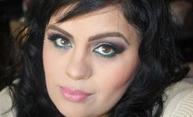 Turquesa ,Turquoise Makeup Maquillaje