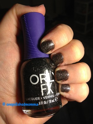 I am loving this black holo. The picture doesn't do the sparkles justice