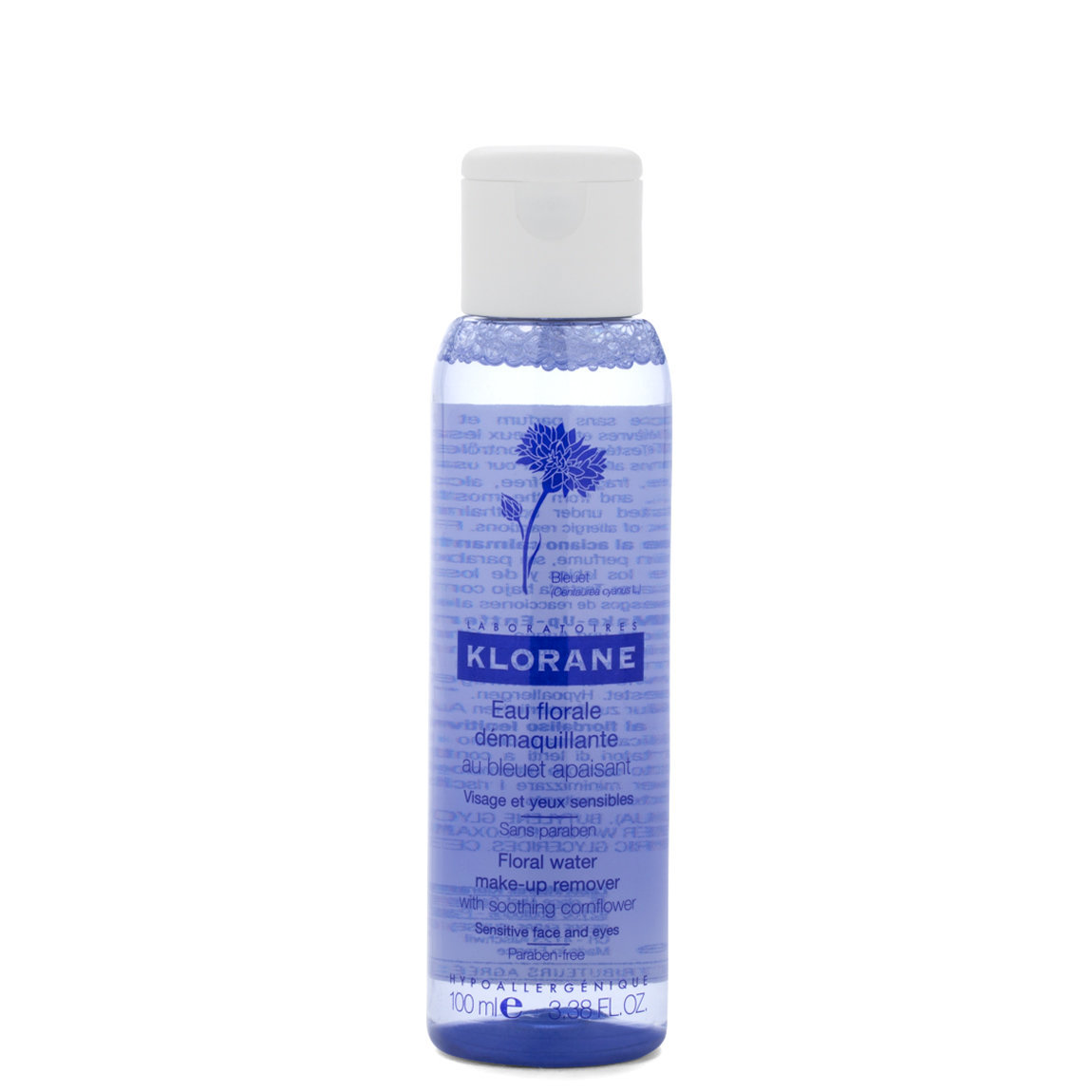 Klorane Floral Water Make-Up Remover with Soothing Cornflower 3.4 oz alternative view 1 - product swatch.