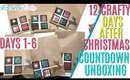 12 days of Crafty Countdown Swap Unboxing DAYS 1-6, 12 days of embellishment swaps unboxing days 1 6