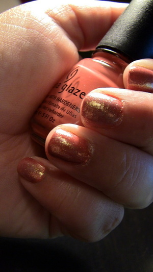 Nails: China Glaze Nail Polish in Life Preserver, with White Cap on top