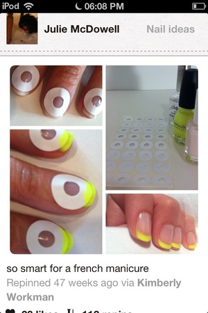 Bright yellow nail tips , how to do !!!!! xx
