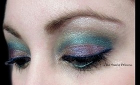Bejewled Peacock Colors Inspired Eye Makeup Tutorial - The Snarky Princess