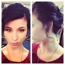 60's inspired up-do