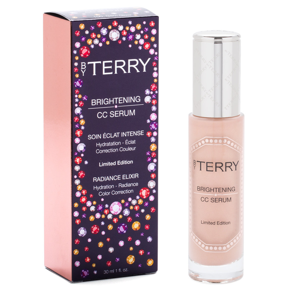 BY TERRY Gem Glow Brightening CC Serum product smear.