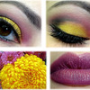 Yellow and Pink Flower Inspired