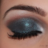 Shimmery smokey look