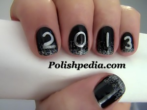 I am so excited for the new year!  Watch My Video Tutorial @ http://polishpedia.com/2013-new-years-nail-art.html