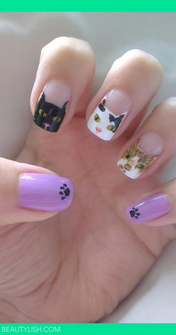 cat nails   Alexis C.\'s (glittertips) Photo   Beautylish