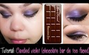 Tutorial: Candied violet (chocolate bar de too faced)