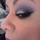 Purple eyeshadow & glitter