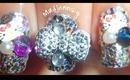 3D Cute Glitzy Nails! + OOTN / Diseño con glitter