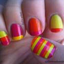 Colorful French & Stripes