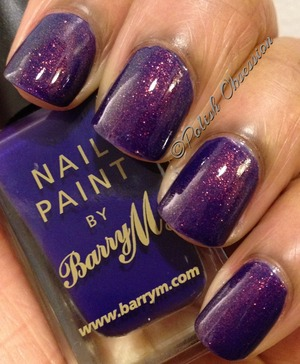 Max Factor Fantasy Fire layered over Barry M Indigo  http://www.polish-obsession.com/2013/02/show-some-love-saturday.html#