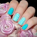 Elegant Floral Nails