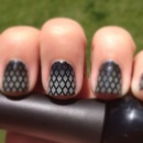 Sexy, Smoky Fishnet Nails