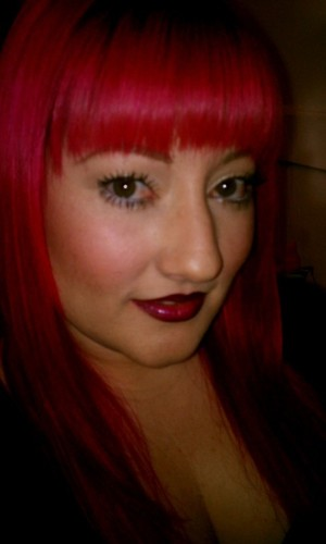 I miss having pink hair! It was like having Girl About Town all over my head! One of my favorite lipsticks!! :) <3
