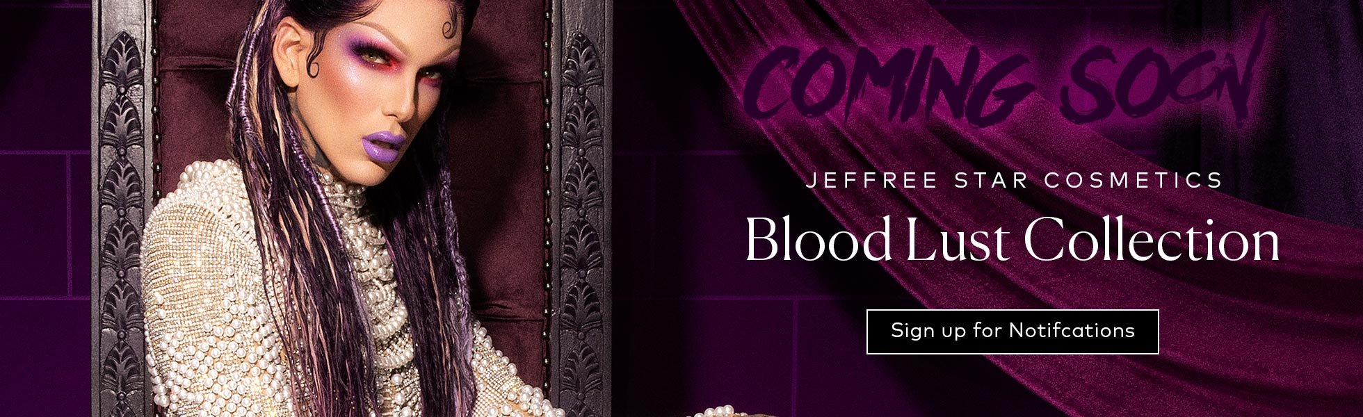 Jeffree Star Cosmetics Blood Lust Collection coming soon to Beautylish. Click to sign up for notifications!