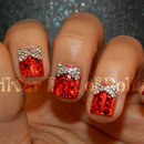 Blingy Christmas Present Nails