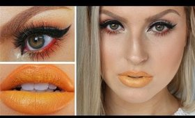 Yellow Lips Tutorial! ♡ Neutral Eyes w/ Pop Of Red!