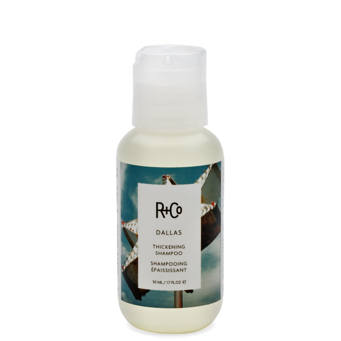 R+Co Dallas Thickening Shampoo 1.7 oz product smear.