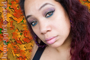 My Thanksgiving 2012 FOTD using Urban Decay Naked 1, Inglot and Lorac. On my lips - WetnWild's It's a Girl and Just Peachy. Earrings by I - Candy Couture Accessories. Twisted Woven Hoops in Purple & Brown.
