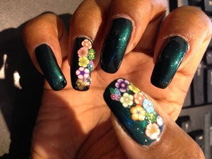 my base is Illamasqua nail color in Veridian