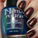 Ninja Polish Mystic Glacier over Cult Nails Time Traveler