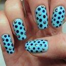 3D Blue Polka Dot Nail