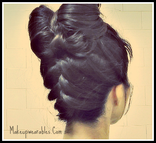 Hair Bows! Upside Down FRENCH Braided, Double Hair Bow Bun