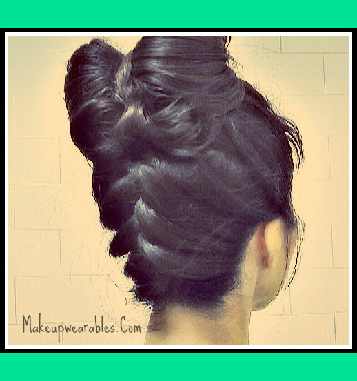 Hair Bows Upside Down French Braided Double Hair Bow Bun Tutorial