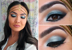 "I Dream of Kashmir makeup look inspired by my Caviar Noir ""Kashmir"" headpiece. All info and details on my blog: http://www.maryammaquillage.com/2012/06/i-dream-of-kashmir.html"