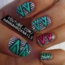 Geo Stripes Nail Art