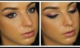 Gold & Purple Cat Eyes Makeup Tutorial ♥