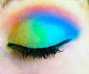I used my Fash cosmetics palette to create this vibrant rainbow look! For less than 20.00, thats a whole lot of pigmentation! I tagged the ELF palette because it has similar colors for a good price as well.