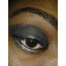 Black and Silver with glitter