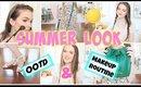 My Everyday Summer Look: Makeup, Hair, & OOTD