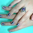 opi ink with silver stamping Konad