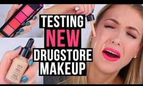 TESTING NEW DRUGSTORE MAKEUP?! || 5 First Impressions