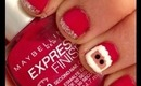 Santa and Silver French Manicure!