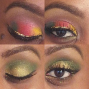 Makeup look using mac pigments