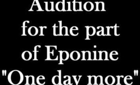 """One day more"" Fancast - Eponine Part."