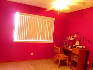 my make-up room is finally painted pink!