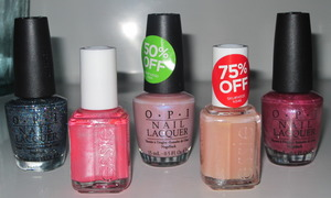 PureBeauty polish haul:  Simmer & Shimmer, It's a Cinch, Rosy Future, Cool-Lots and And This Little Piggy