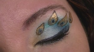Peacock Eyes Close Up 1