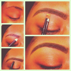 Here's a step by step of my eyebrow application. Hope it helps!