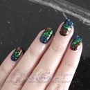 Flakie Rainbow Nails